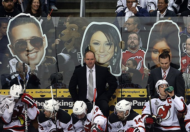 2012 NHL Stanley Cup Final - Cast of the Jersey Shore helps Taunt the NJ Devils