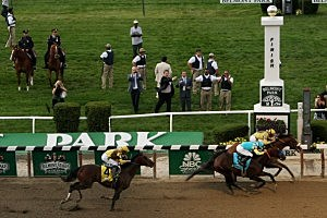 Union Rags wins the Belmont