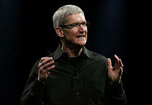 Apple CEO Tim Cook delivers the keynote address during the Apple 2012 World Wide Developers Conference in San Francisco