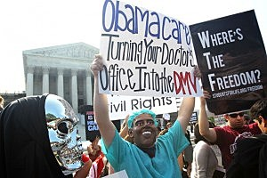Anti-Obamacare protesters