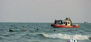 Rescue craft search the water off Atlantic City