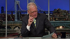 David Letterman pinch hits for Johan Santana's scheduled reading of the Top 10 list
