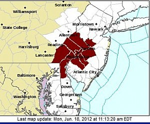 Excessive Heat Warning Issued for Parts of NJ (NOAA.gov)