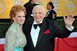 Ernest Borgnine (R) and wife Tova Borgnine