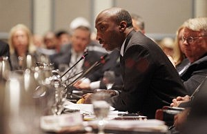Penn State University trustee and Merck & Co. President and CEO Kenneth Frazier,