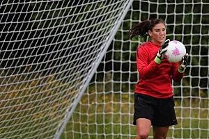 US women's soccer team goalkeeper Hope Solo