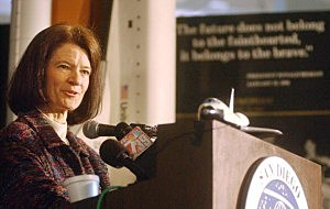 Dr. Sally Ride, the first U.S. woman to travel into space in 2003.