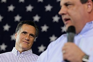 Governors Chris Christie and Mitt Romney