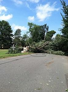 Freehold Borough storm damage