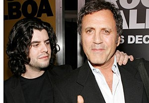 Sage Stallone (L) with father Sylvester in 2006