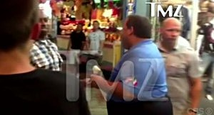 Screenshot of Governor Christie's incident on Seaside Heights boardwalk (TMZ)