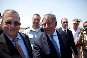 Leon Panetta Views Israeli Iron Dome defenses