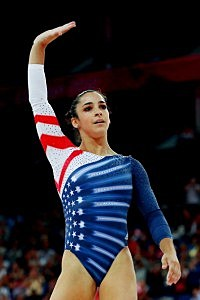 Aly Raisman of the United States waves after she competes in the Artistic Gymnastics Women's Floor Exercise final