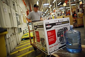 Customer buys a generator at a Home Depopt in Tampa