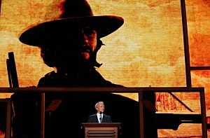 Clint Eastwood speaks during the final day of the Republican National Convention