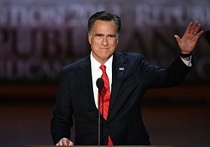 Mitt Romney accepts the Republican nomination for President