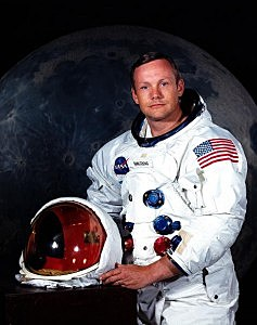 Astronaut Neil A. Armstrong poses for a portrait July 1969.