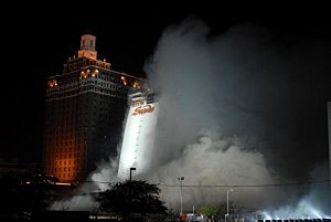 Implosion of the Sands Casino in Atlantic City in 2007.