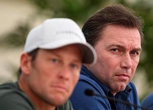 Lance Armstrong & his coach Johan Bruyneel