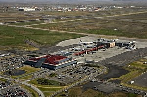 Keflavík International Airport.