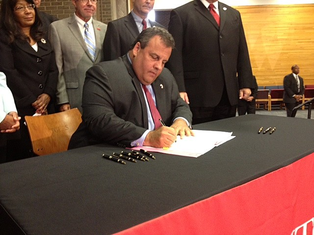 Governor Chris Christie Signs Merger Bill