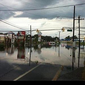 Flooding on Route 35 in Neptune City.