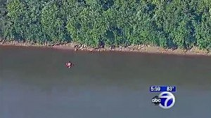 Area of Raritan River being searched by police