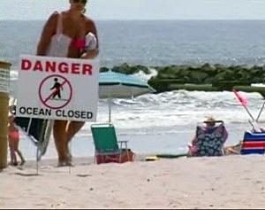 Sign on an Ocean City beach