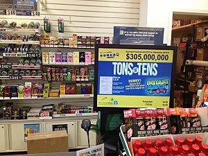 Powerball display