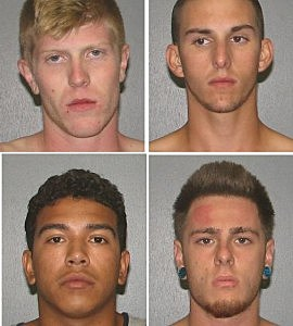 From top left to right: Dougherty, Franks. From bottom left to right: Montiel, Tarsitano (Photo by: Egg Harbor Township Police)
