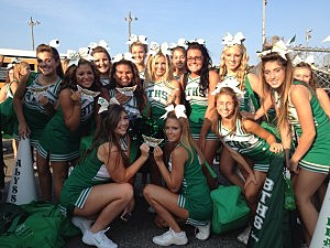 Brick High School cheerleaders