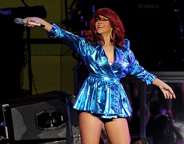 Rihanna Performs At Staples Center