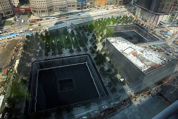 The reflective pool at The National September 11 Memorial Museum