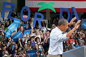 President Obama campaigns in Florida