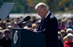 Vice President Joseph Biden speaks at the Flight 93 National Memorial