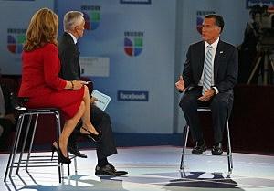Mitt Romney interviewed by Univision's  Jorge Ramos and Maria Elena Salinas