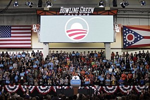 Obama campaign event in Bowling Green,Ohio