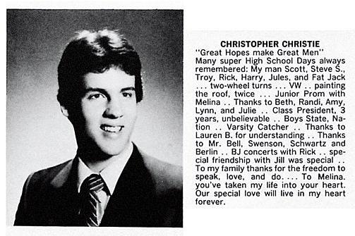 Governor Chris Christie High School Photo