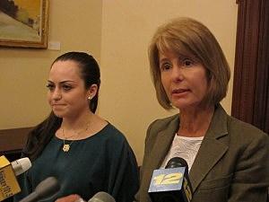 Ashlee Newman and State Senator Barbara Buono