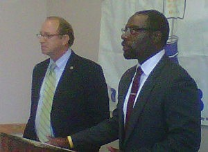 Secretary of Agriculture Doug Fisher and DCA Commissioner Richard Constable