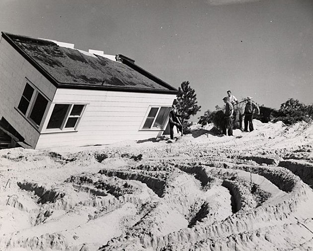 Harvey Cedars after the Great Atlantic Hurricane of 1944 (Photo Credit: NJ State Archives via the Department of Transportation Collection)
