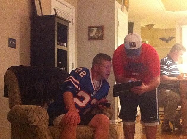Eric Scott and Matt White debating their next pick