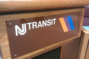 NJ Transit station sign