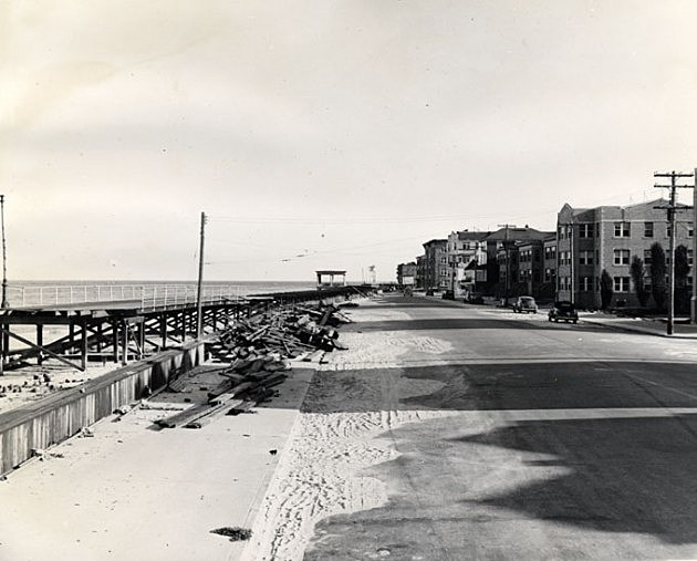Great Atlantic Hurricane of 1944 in Atlantic City, Photo Credit: NJ State Archives via Dept. of Tranportation Collection