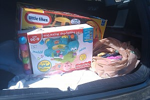 Christmas shopping, baby toys