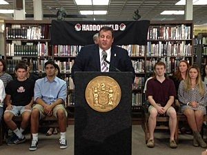 Governor Christie at a town hall tour stop in Haddonfield