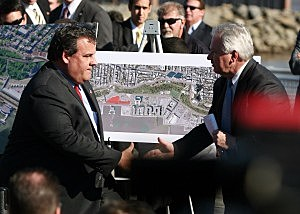 Governor Christie at the Formula One Grand Prix race in October, 2011