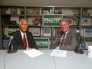 Tom Mongelli and Congressman Frank Pallone