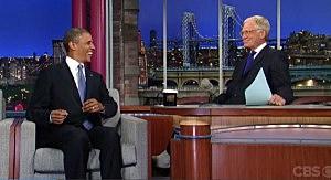 President Obama on David Letterman