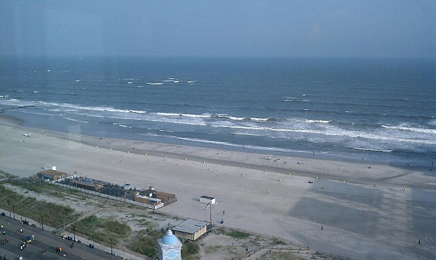 Ocean view from Caesar's in Atlantic City